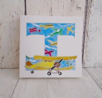 Airplane canvas letter hand painted letter by ...