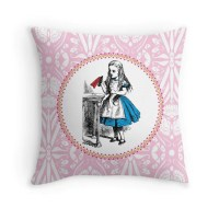 ALICE IN WONDERLAND Throw Pillow: Cushion by ...