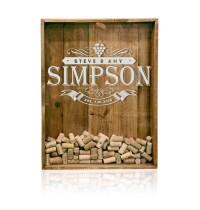 18x24 Wine Cork Holder - Monogrammed- ShadowBox Display ...