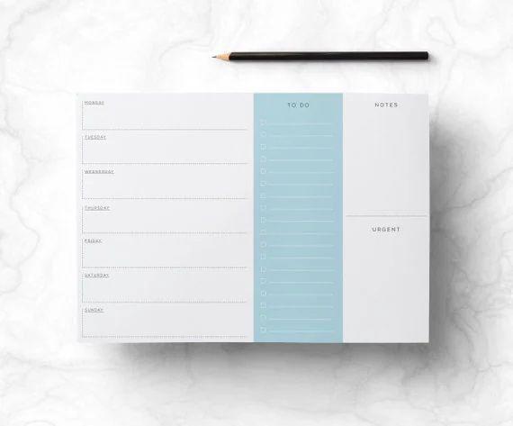 weekly schedule organizer
