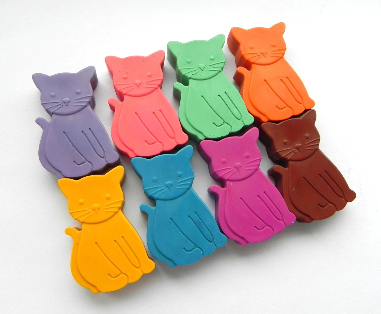 Unique Cat Lover Gift Cat Crayons Set Of 8 Unique Kids Gift Birthday Gift