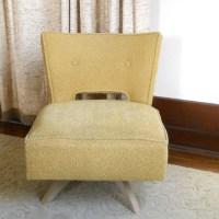 Vintage Kroehler Swivel Slipper Chair Mid by lisabretrostyle2