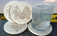 Civil War Drink Coasters Men's Gifts Absorbent Coasters