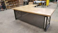 Large Executive Desk Modern Industrial L Shape Office Desk