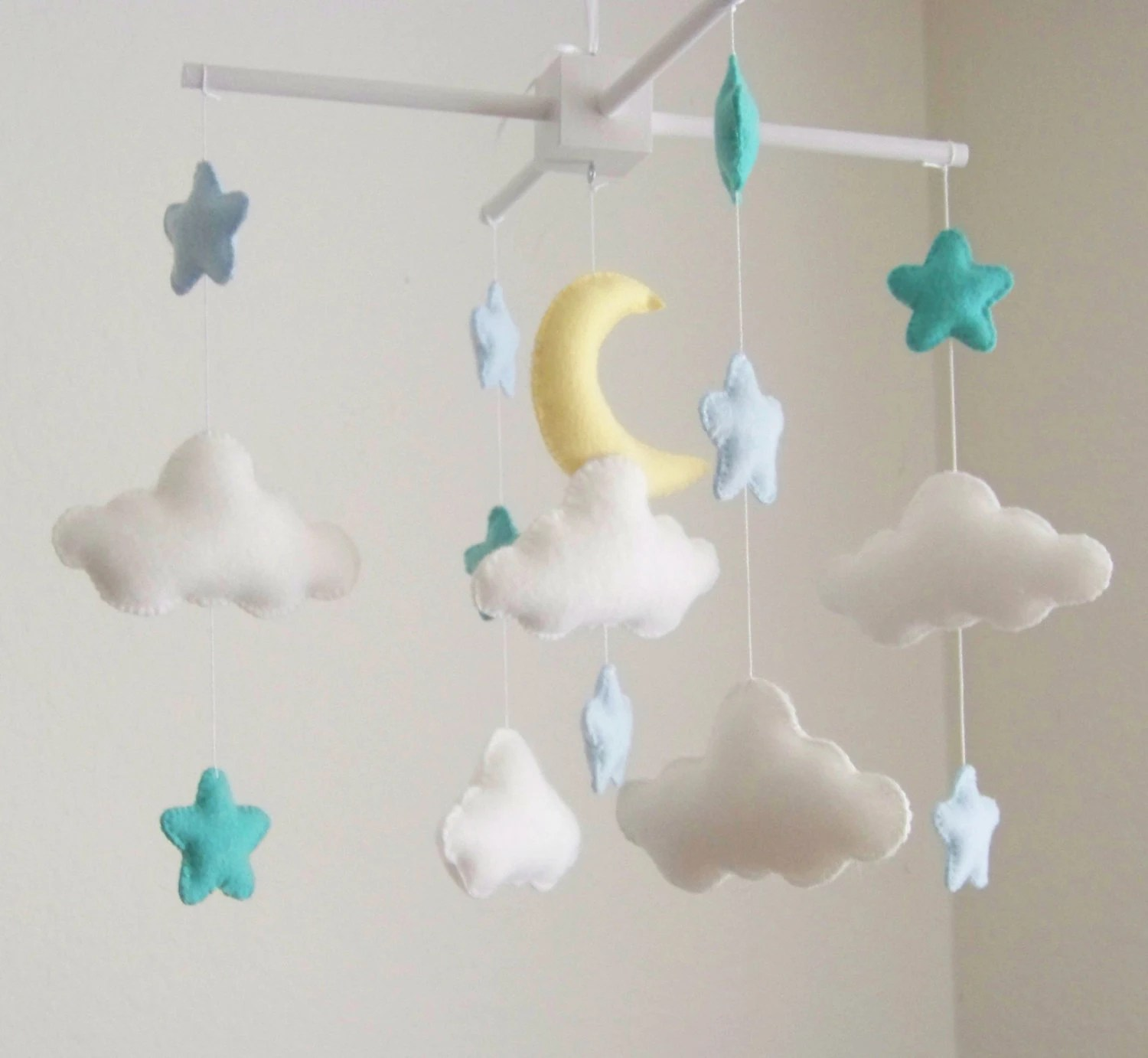 Mini Mobile Baby Moon And Cloud Baby Mobile Baby Mobile Star Baby Mobile