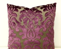 Plum Velvet Pillow Cover Velvet Pillow Velvet by artdecopillow