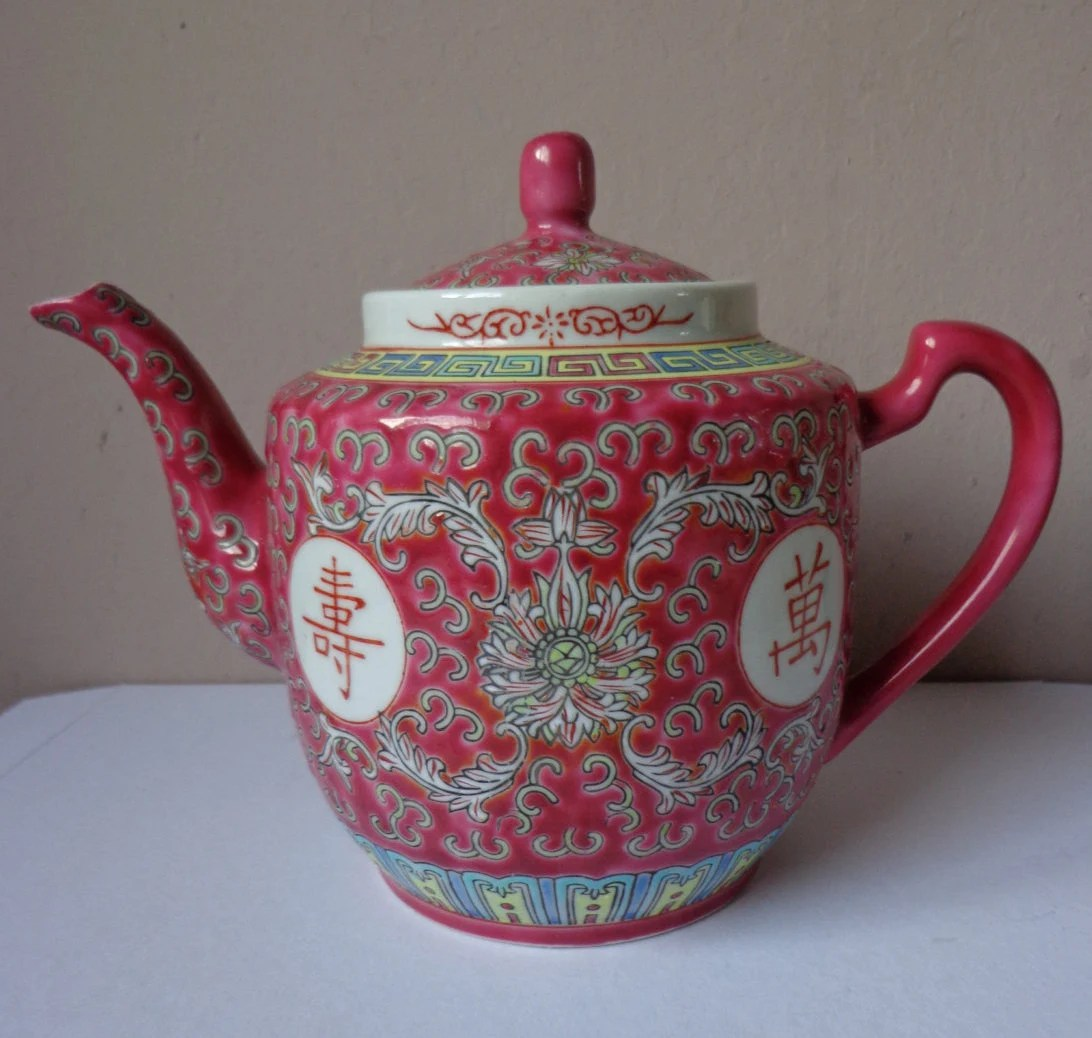 Beautiful Teapot Beautiful Vintage Red Pink Chinese Teapot With Traditional