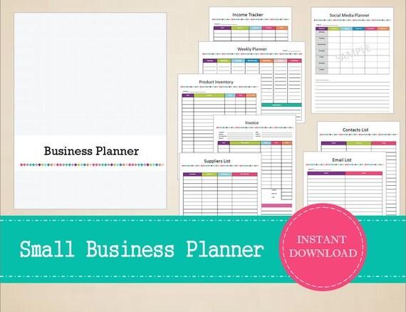 small business planner organizer