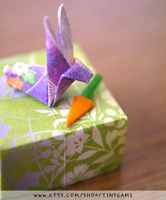 Tiny Origami Bunny Box With Carrot By Tinygami On Etsy