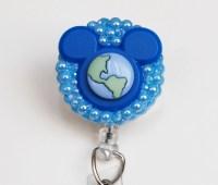 Disney World ID Badge Reel Retractable ID Badge Holder