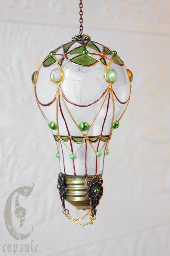 Deco Glass Bilder Decorative Ornament Frost White Stained Glass Light Bulb Hot