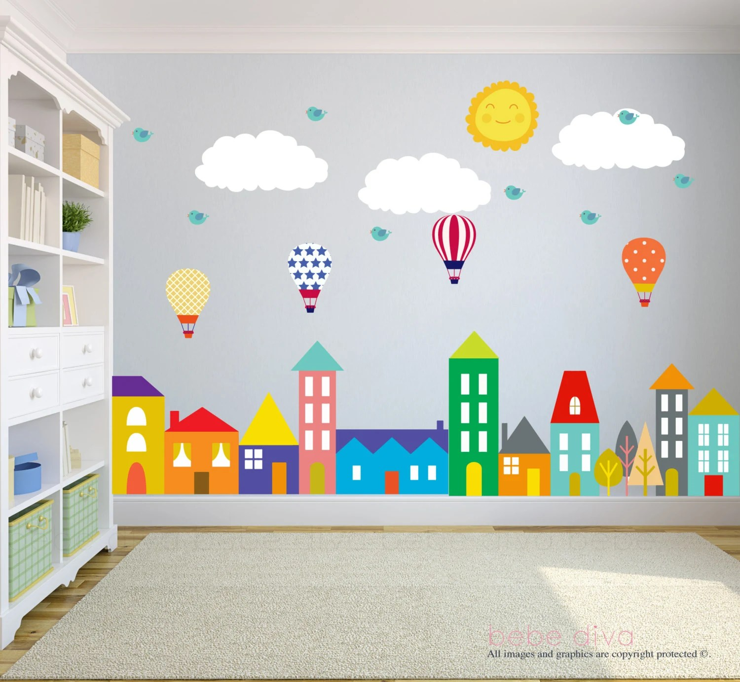 Walls For Kids City Wall Decals Wall Decals Nursery Baby Wall Decal Kids