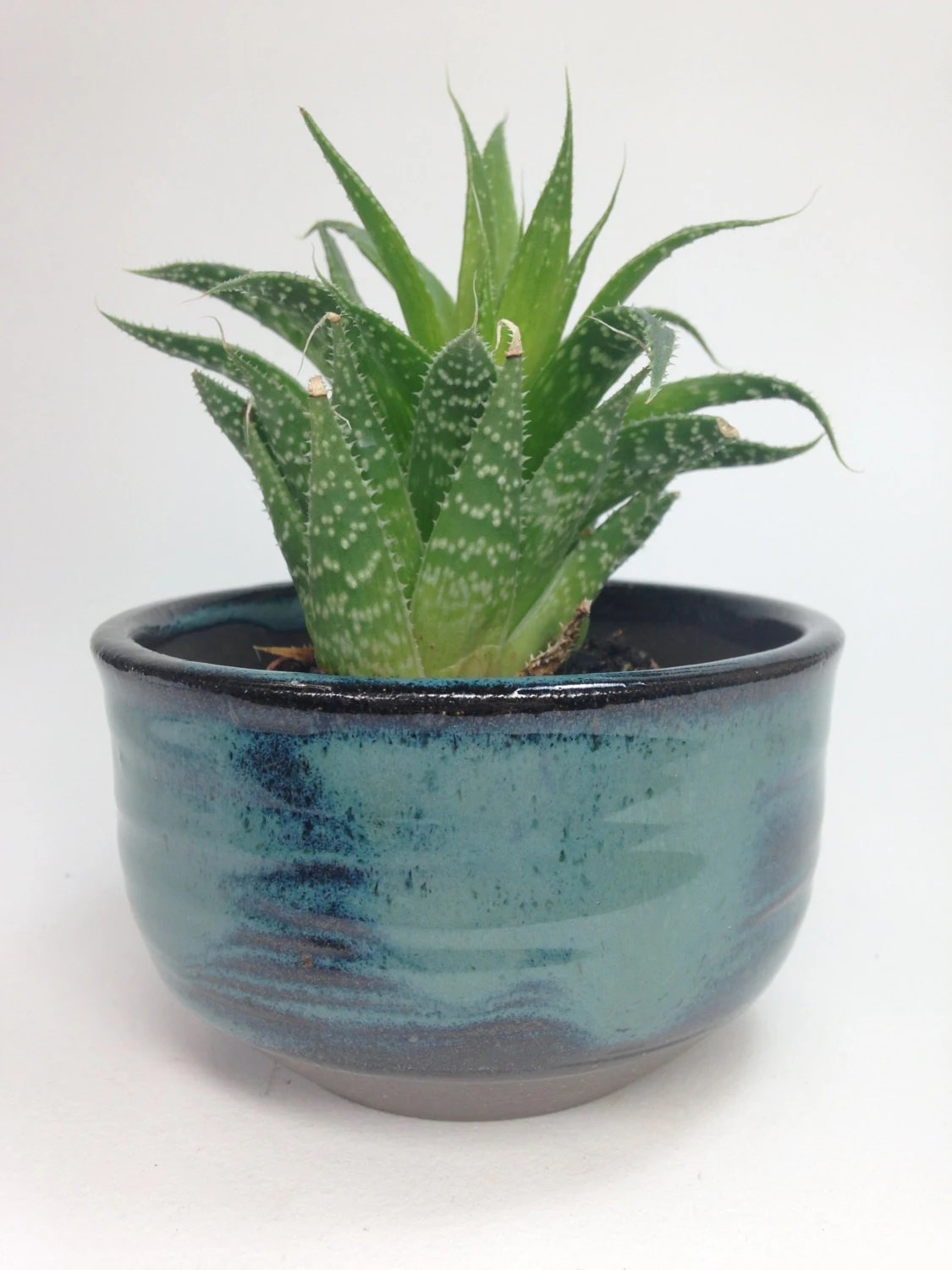 Ceramic Pottery For Plants Made To Order Succulent Planter Ceramic Planter Blue Clay