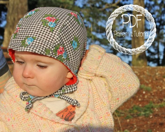 Baby Bonnet Sewing Pattern, DIY, Classic Bonnet Pattern, Easy Sewing Pattern, Brimless Bonnet, Bonnets