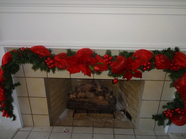 Garland Christmas Garland Mantel Garland Fireplace Garland