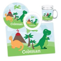 Dinosaur Plate, Bowl, Mug or Placemat - Personalized ...