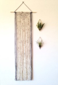 Macrame wall hanging long wall hanging. Geometric wall decor