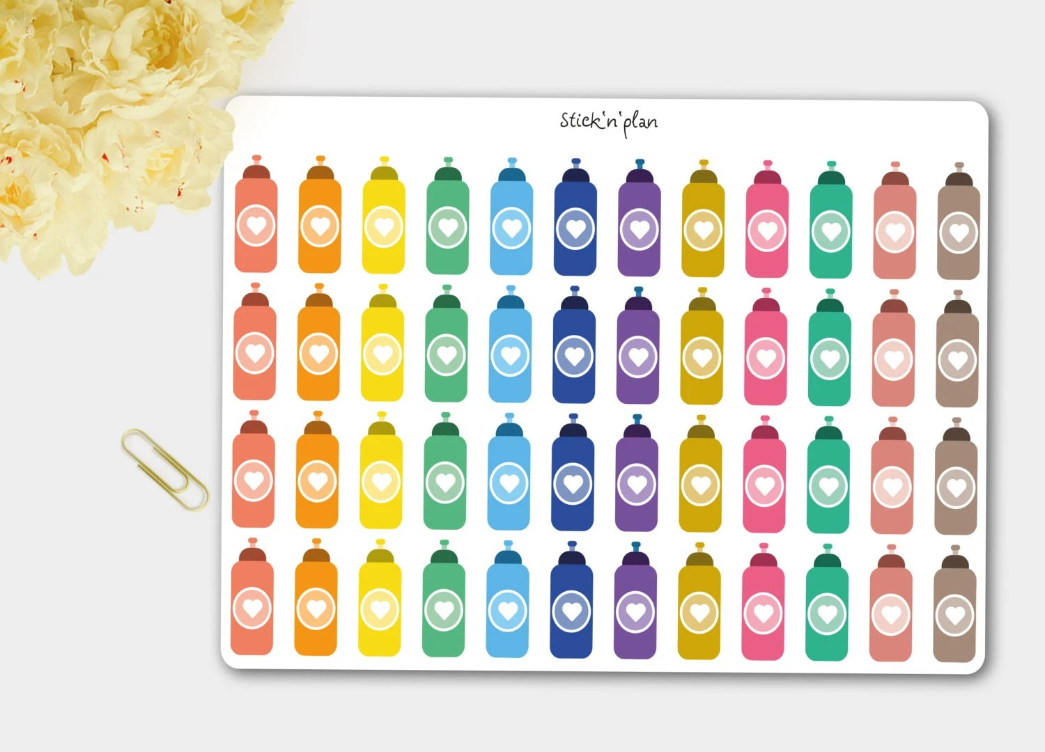 Planner Cameretta Bottle Planner Stickers Water Bottle Stickers By