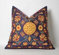 Embroidered pillow suzani cushion cover decorative suzani