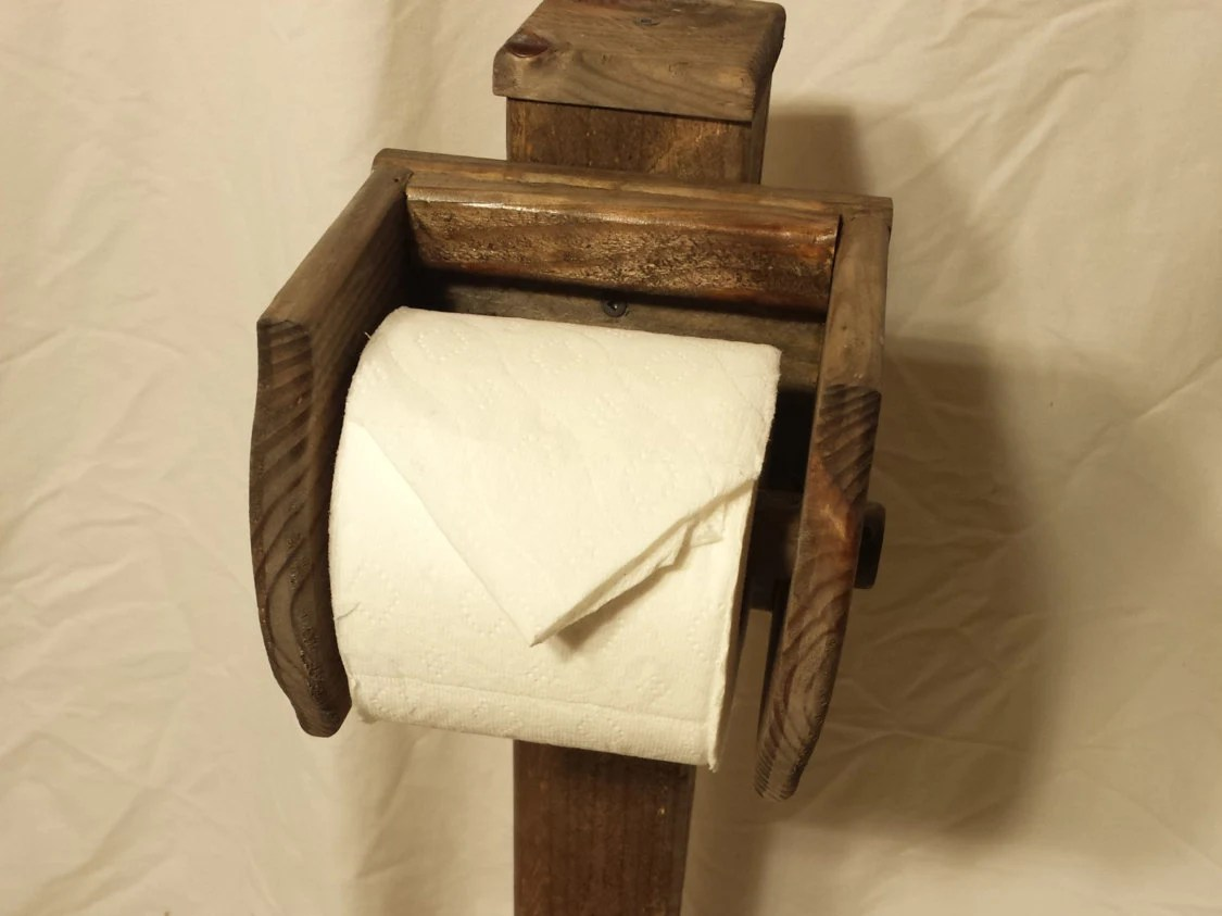 Floor Toilet Paper Stand Toilet Paper Holder Stand Floor Stand Natural Rustic Horz