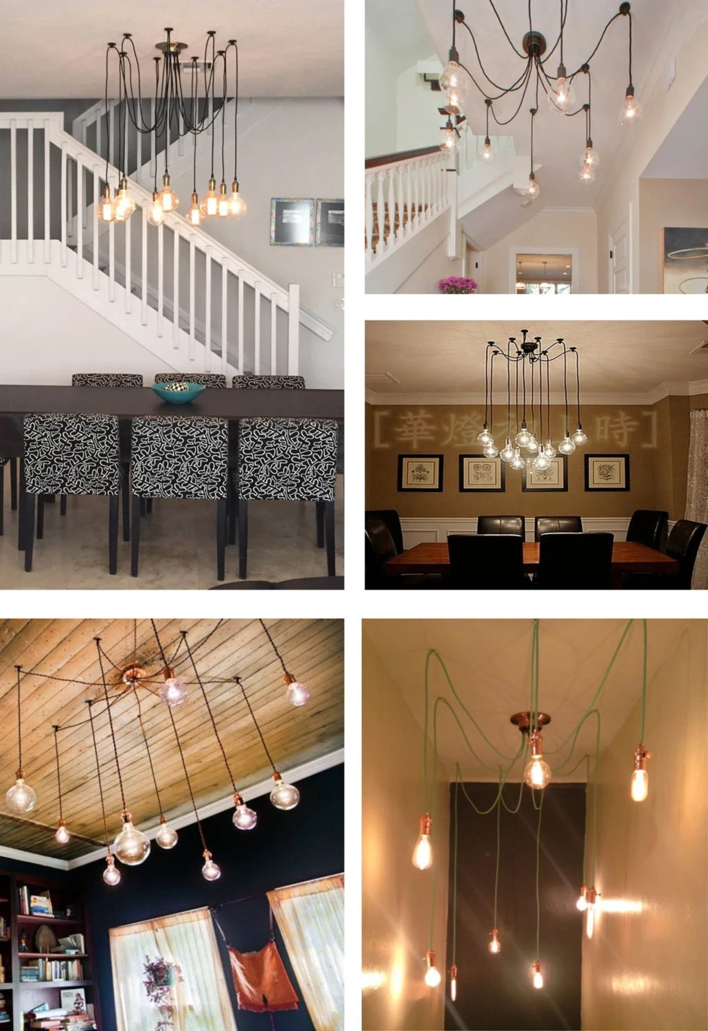 How To Swag A Chandelier 9 Swag Light Multi Pendant Chandelier Modern Chandelier With