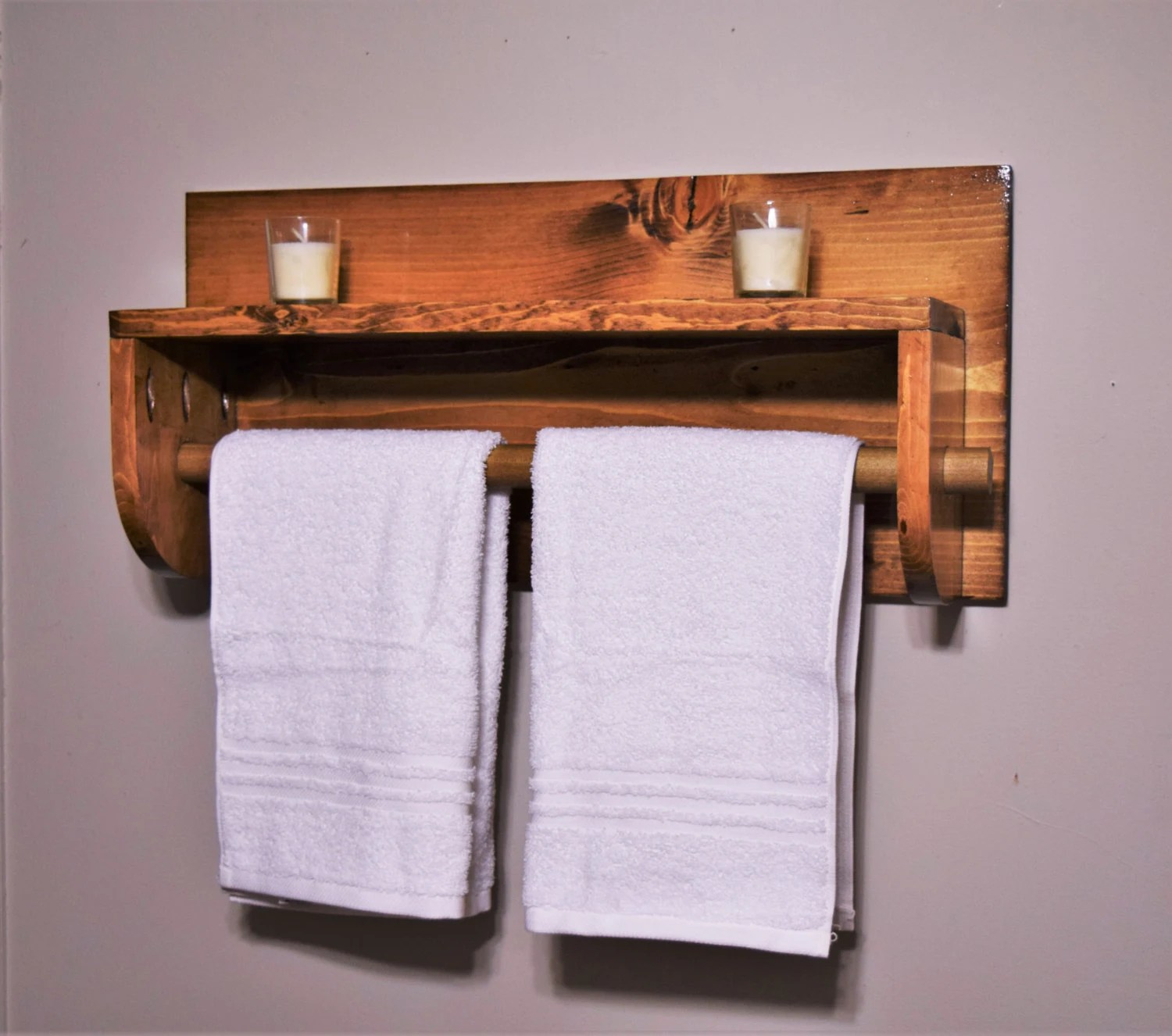 Holz Handtuchhalter Bathroom Shelf With Towel Rack Towel Rack Wooden Towel Rack