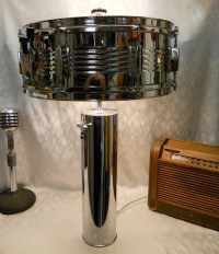 Items similar to Vintage Chrome Snare Drum Table Lamp on Etsy