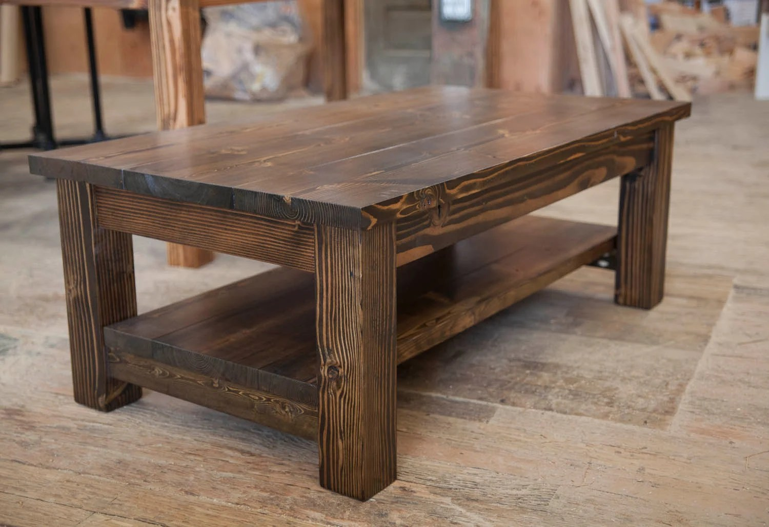 Couchtisch Rustikal Holz Farmhouse Coffee Table Rustic Coffee Table Solid Wood