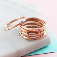 Stackable Rings Rose Gold Ring Birthstone Ring Gemstone