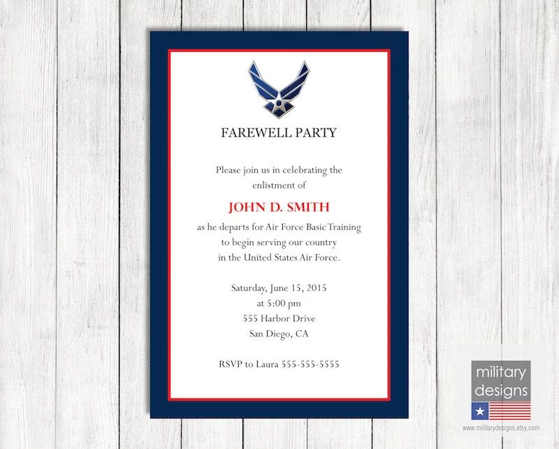 farewell party invite email