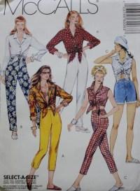 McCalls 6006 /Tie Front Shirt / Skinny Pants /Shorts Sewing