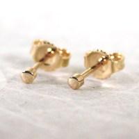 Teeny Tiny Earrings 14k 2mm Gold Stud Earrings High Polished