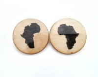 Africa Earrings Africa Shaped Earrings Africa Shaped Studs