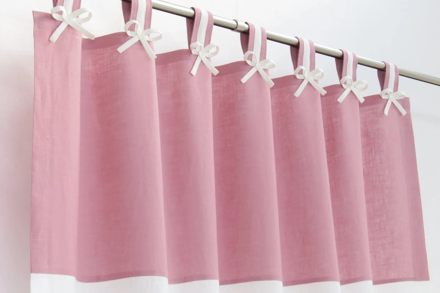 Tab Top Curtains Australia Pink And White Nursery Blackout Curtain I Tab Top Linen Panel