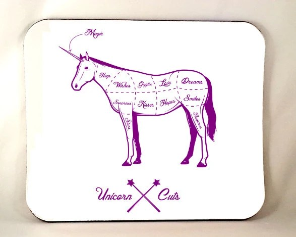 Best Quality Mouse Pad Funny Unicorn Mousepad Funny Mousepad Meat Cuts Unicorn