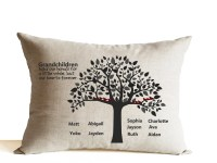 Grandma Grandpa Pillow Grandparents Throw Pillow Gift For