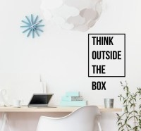 Think outside the box motivational wall decor office decal