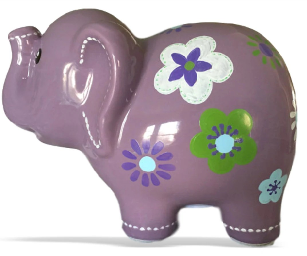 Cheap Piggy Banks For Sale Personalized Large Elephant Piggy Bank Lavender Purple