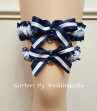 Plus Size Nautical Wedding Garter Set / US Navy Wedding