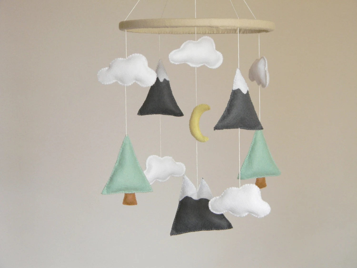 Baby Musical Mobile Australia Mountains Baby Mobile Baby Crib Mobile Modern By