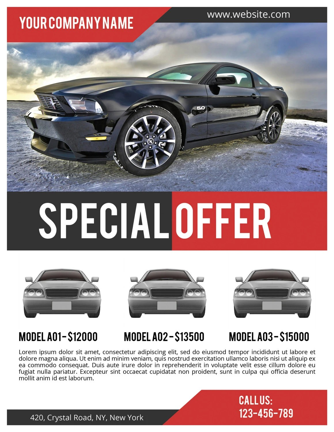 Car Sale Flyer PSD Template Commercial Flyer Template - car for sale flyer template