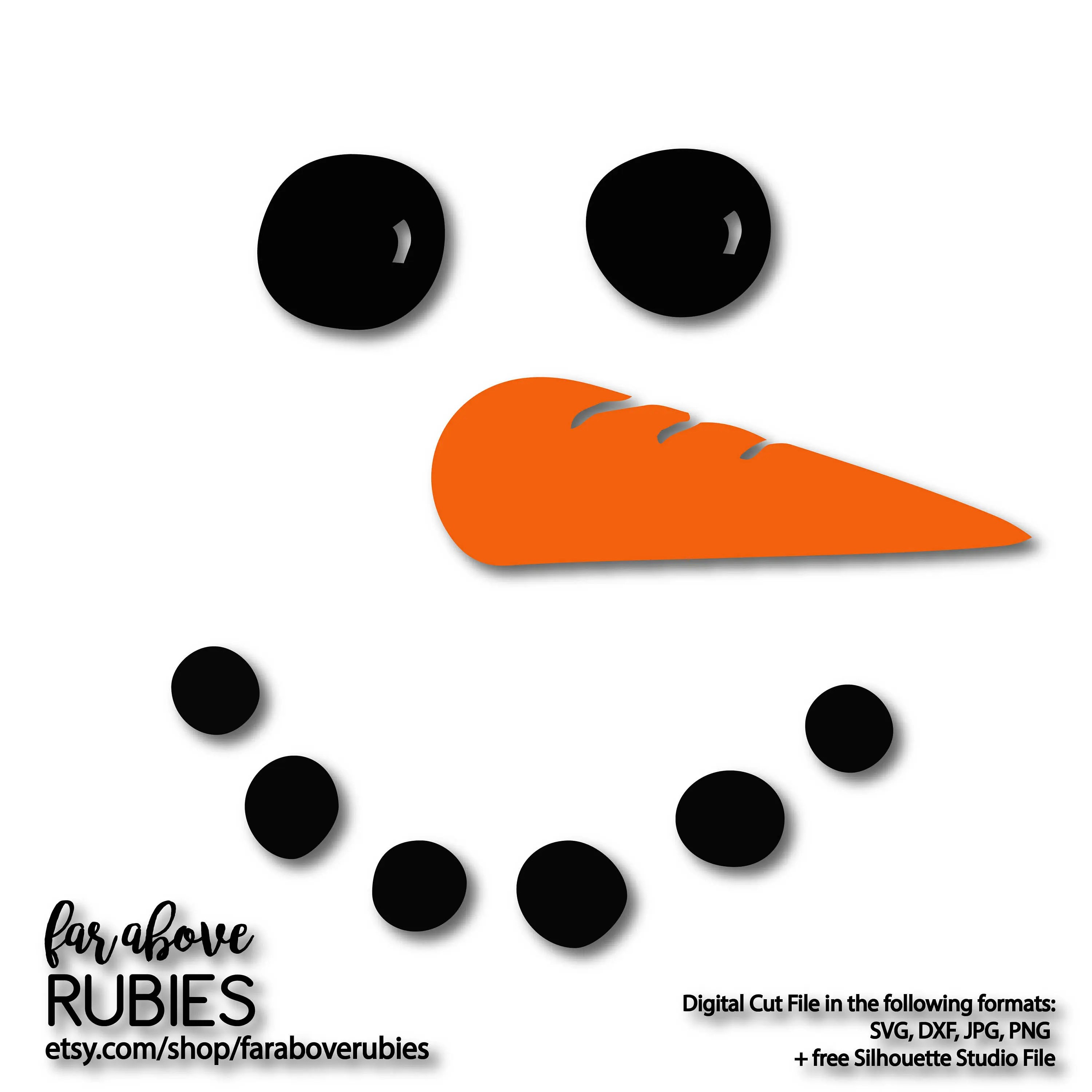 Snowman Face Clipart Snowman Face With Carrot Nose Svg Eps Dxf Png Jpg