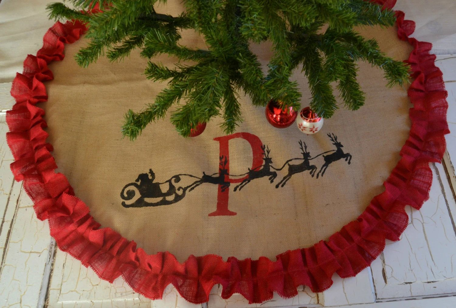 monogram tree skirt