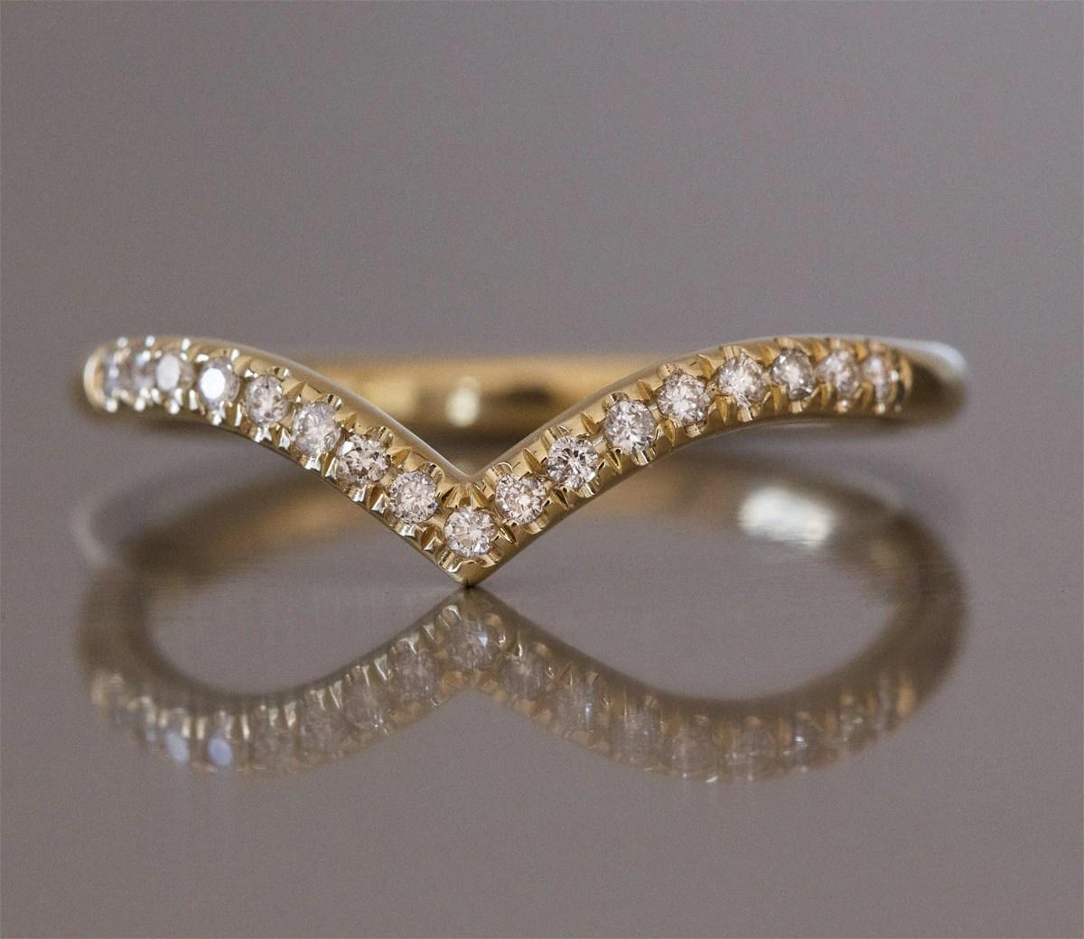 curved wedding band wedding band curved curved wedding band diamond v ring curved wedding ring chevron diamond ring elegant wedding ring thin diamond ring curved ring