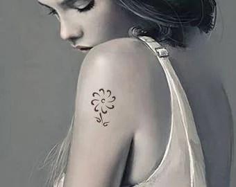 Buy flower temporary tattoos flowers fake tattoo edible photo flower fake tattoo 2x2 inch malvernweather Choice Image
