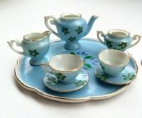 Mini tea set Miniature tea set vintage tea set tea cup tea
