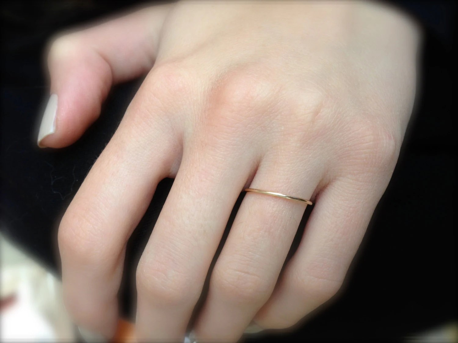 very thin rose gold band thin wedding thin wedding bands Very Thin Gold Wedding Band solid 14k YELLOW Gold Handmade 1mm Fully Round full halo Plain Simple Skinny Dainty Stacking Band Spacer Ring