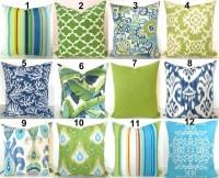 Green outdoor pillow | Etsy