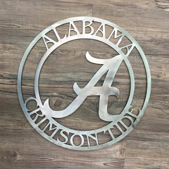 Alabama Crimson Tide Logo Home Decor Football Sports Wall