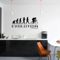 Cycling wall decals | Etsy